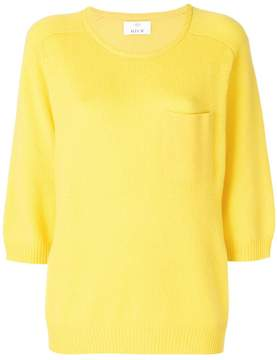 Allude patch pocket jumper