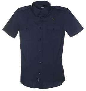 Blauer Men's Blue Cotton Shirt.