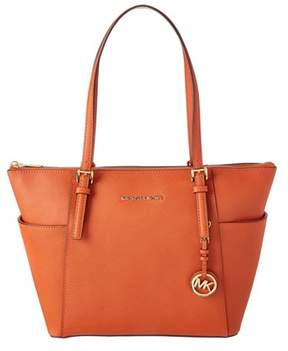 MICHAEL Michael Kors Jet Set Leather East/west Tote. - ORANGE - STYLE