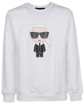 Karl Lagerfeld Men's 57291110 White Cotton Sweatshirt.