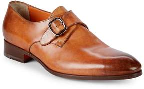 Santoni Men's Leather Monk Strap Shoes