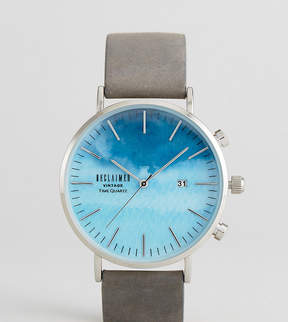 Reclaimed Vintage Inspired Sky Suede Watch In Gray Exclusive To ASOS
