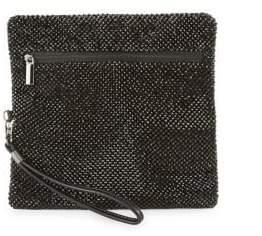 La Regale Textured Mesh Wristlet