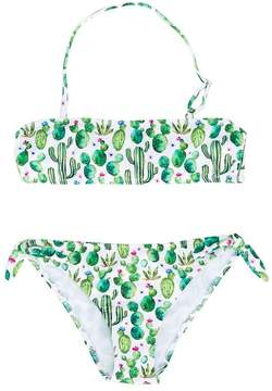 MC2 Saint Barth Kids cactus print bikini set