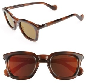 Moncler Women's 50Mm Sunglasses - Dark Havana / Brown Mirror
