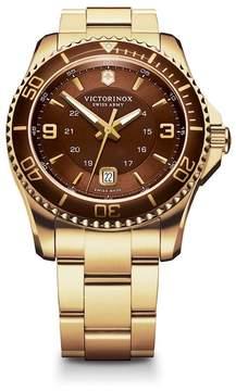 Victorinox Men's Maverick GS Two Tone Bracelet Watch, 43mm