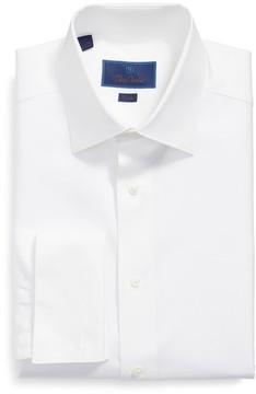 David Donahue Men's Trim Fit Tuxedo Shirt
