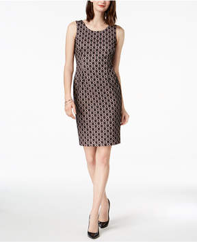 Kasper Bonded Lace Sheath Dress