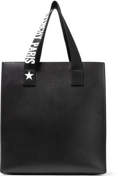 Givenchy Stargaze Printed Canvas-trimmed Leather Tote - Black