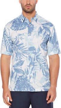 Cubavera 100% Cotton Tonal Tropical Printed Shirt