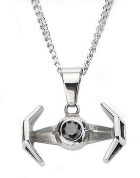 Star Wars FINE JEWELRY Stainless Steel TIE Fighter Pendant Necklace