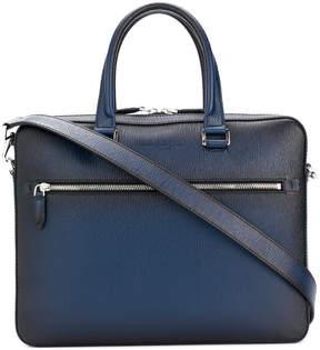 Salvatore Ferragamo front zipped briefcase