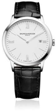 Baume & Mercier Classima 10323 Stainless Steel & Alligater-Embossed Leather Strap Watch