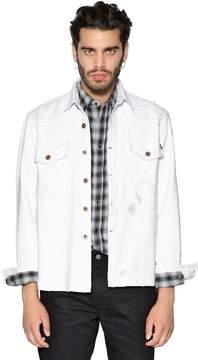 Diesel Distressed Cotton Denim Jacket