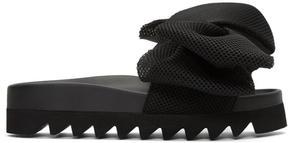 Joshua Sanders Black Bow Slide Sandals