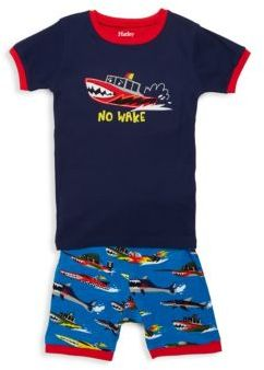 Hatley Little Boy's Two-Piece Monster Boats Tee & Short Set
