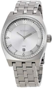 Nixon Monopoly Silver Dial Ladies Crystal Watch