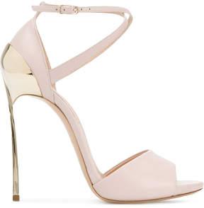 Casadei gold plated stilettos