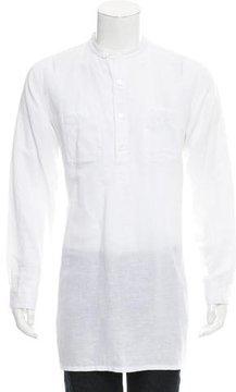 Engineered Garments Longline Linen-Blend Shirt