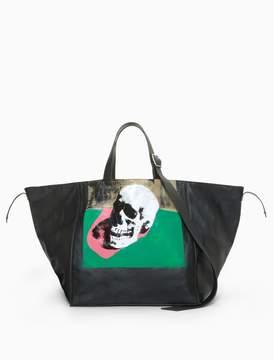 Calvin Klein skull tote