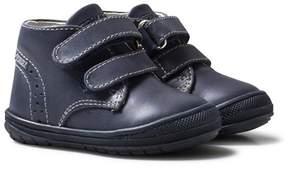 Primigi Navy Leather Velcro First Walker Shoes
