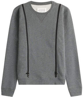 Maison Margiela Wool Sweatshirt with Zip Detail