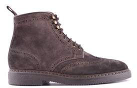 Doucal's Men's Brown Suede Ankle Boots.