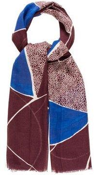 Diane von Furstenberg Wool Printed Scarf w/ Tags