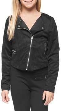 Dex Girl's Asymmetrical Moto Jacket