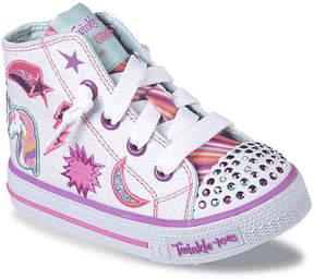 Skechers Twinkle Toes Shuffles Twist N Turns Toddler Light-Up High-Top Sneaker - Girl's