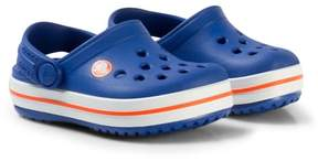 Crocs Blue and Red Crocband Clogs