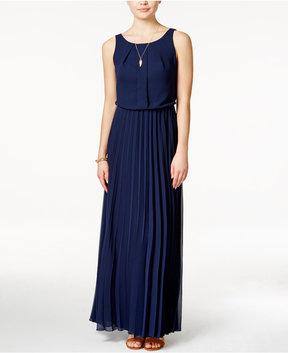 B. Darlin Juniors' Sleeveless Pleated Maxi Dress