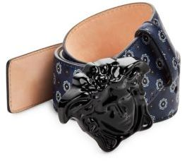 Versace Printed Leather Belt