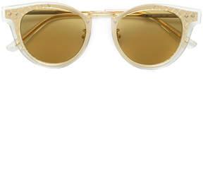 Bottega Veneta layered round frame sunglasses