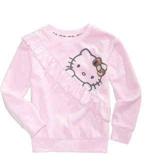 Hello Kitty Velour Long-Sleeve Sweater, Little Girls (4-6X)