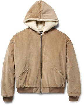 Fear Of God Oversized Faux Shearling-Lined Cotton-Corduroy Bomber Jacket