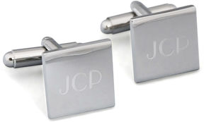 Accessories Engravable Silver Square Cufflinks