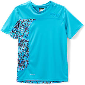 Fila Teal Pixel Performance Tee - Boys