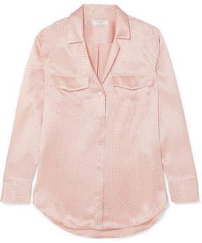 Equipment Ansley Polka-dot Silk-satin Shirt - Pastel pink