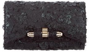 Kara Ross Floral-Embellished Clutch