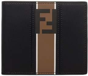 Fendi Black/tobacco Bag Bugs Leather Wallet