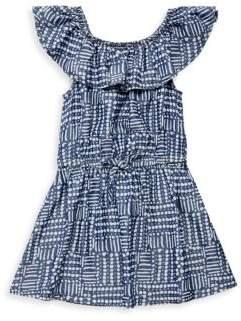 Splendid Toddler's, Little Girl's & Girl's Bow-Accented Line and Dot-Print Dress