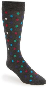 Happy Socks Men's Dot Cotton Blend Socks