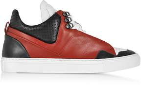 Ylati Poseidon Upper Red & Black Leather Men's Sneaker
