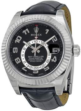 Rolex Sky-Dweller Automatic Black Dial 18kt White Gold Men's Watch BKAL
