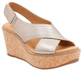 Clarks Women's Aisley Tulip Wedge Sandal