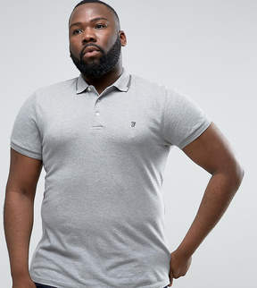 French Connection PLUS Polo Shirt with Twin Tip Collar