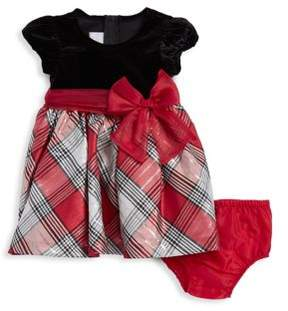 Iris & Ivy Baby Girl's Two-Piece Plaid Dress and Bloomers Set