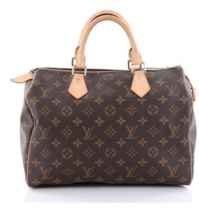 Louis Vuitton Pre-owned: Speedy Handbag Monogram Canvas 30. - BROWN - STYLE