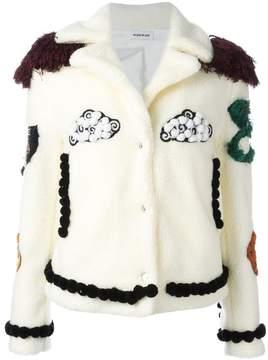Au Jour Le Jour patch detail jacket